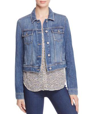 Paige Vivienne Denim Jacket In Medium Blue In Stark