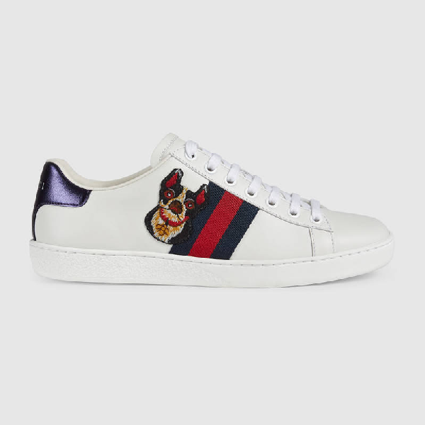 50299ffd6 Gucci Women's Ace Embroidered Sneaker In White Leather | ModeSens