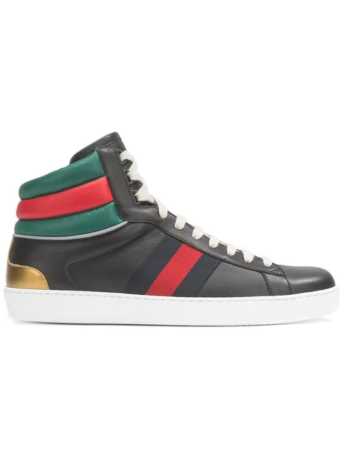 Gucci Ace High-Top Sneaker In 1084Black
