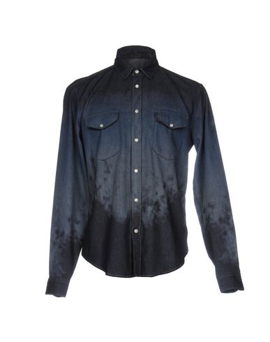 Just Cavalli Solid Color Shirt In Dark Blue
