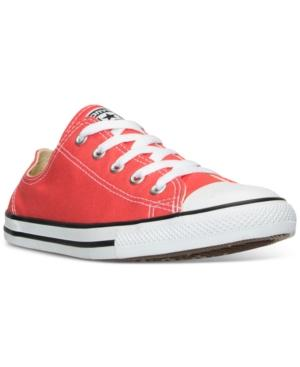 Converse Women's Chuck Taylor Dainty Casual Sneakers From Finish Line In Ultra Red