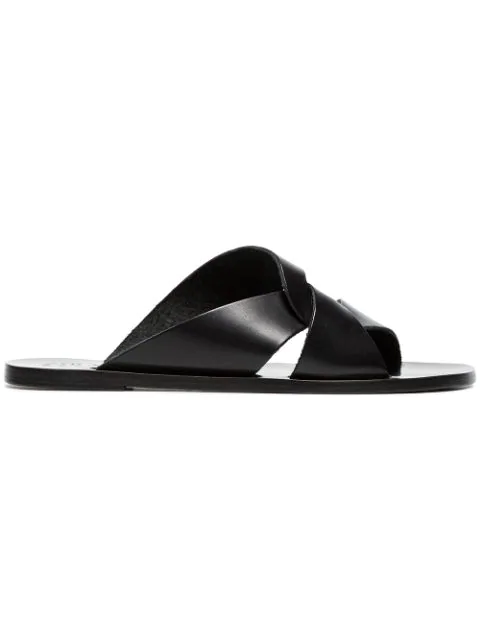Atp Atelier Allai Cutout Leather Sandals In Black