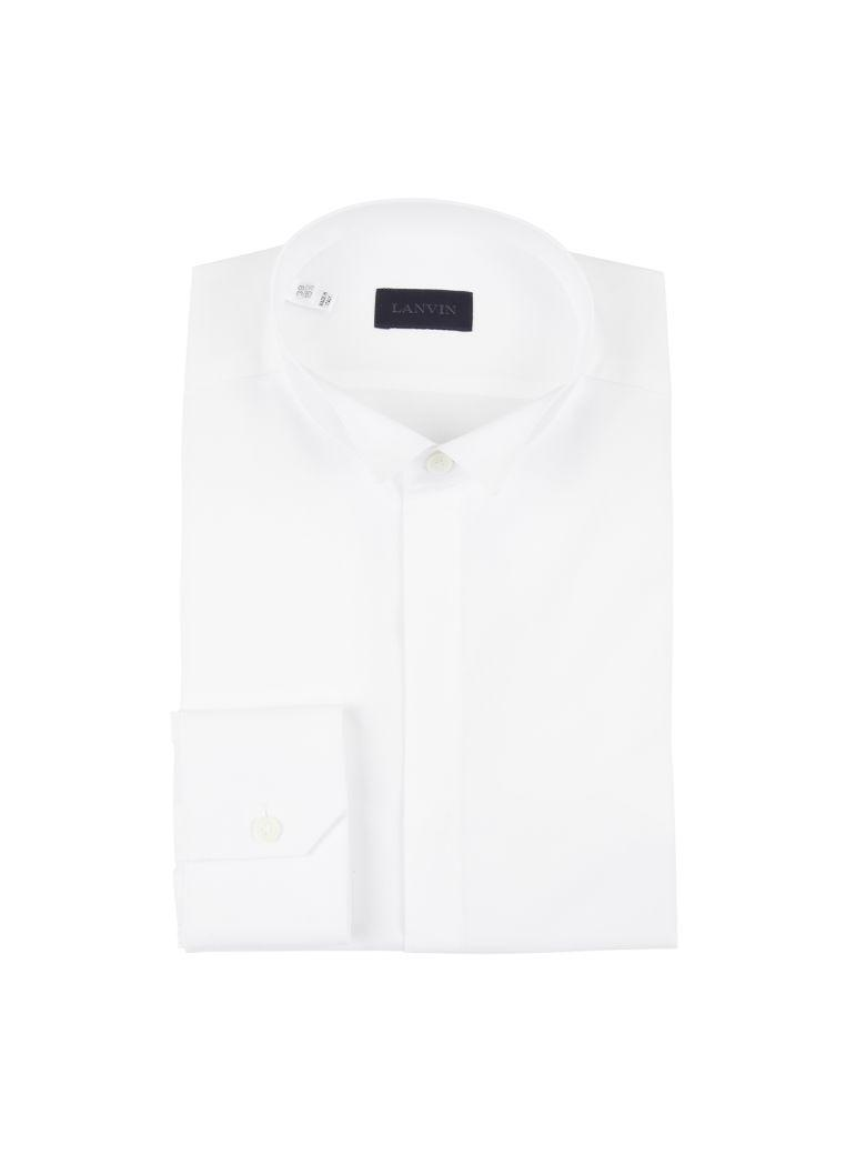 Lanvin Shirt With Classic Cuffs In Whitebianco