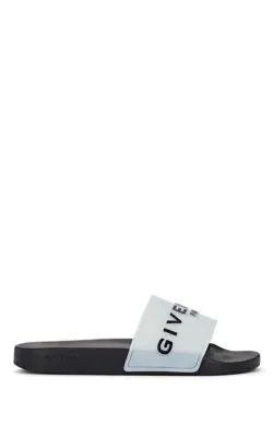 Givenchy Logo Glow-In-The-Dark Rubber Slide Sandals In Ivorybone