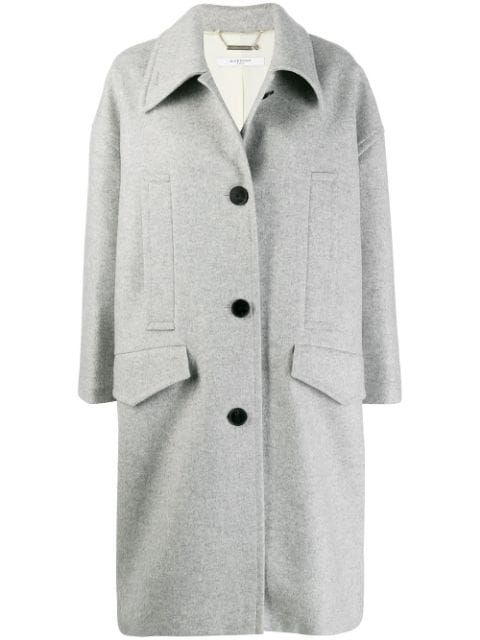 Givenchy Single Breasted Coat In Grey