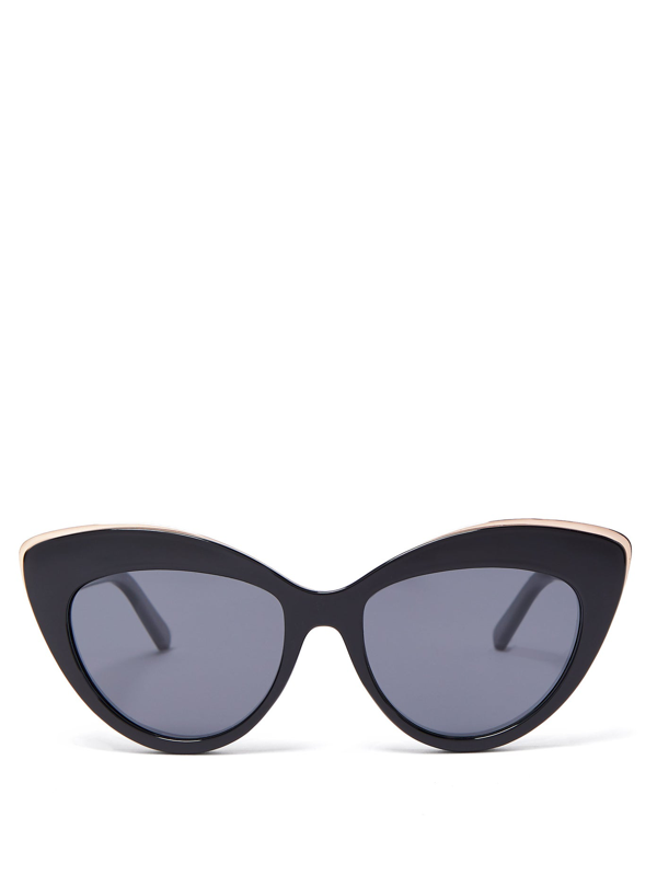 Le Specs Beautiful Stranger Cat-eye Sunglasses In Black Grey