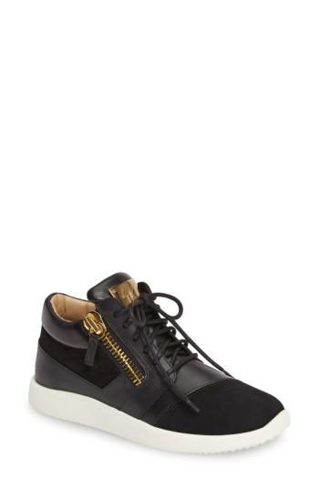 Giuseppe Zanotti Sneaker In Black Leather
