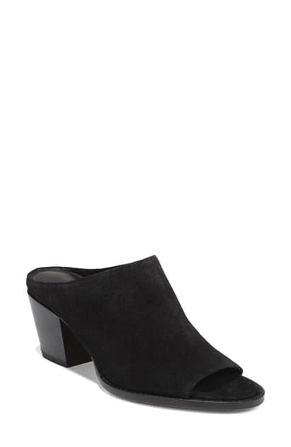 Vince Women's Vedra Block Heel Mule Sandals In Black Suede