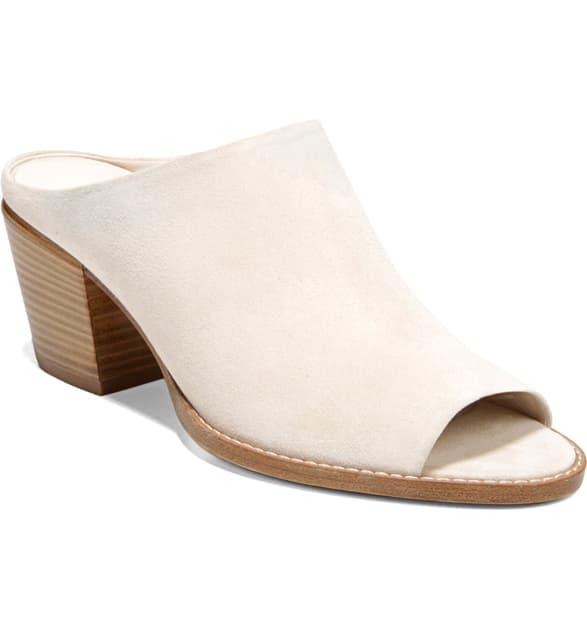 Vince Women's Vedra Block Heel Mule Sandals In Sandstone Suede