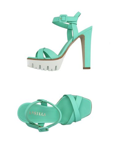 Le Silla Sandals In Light Green