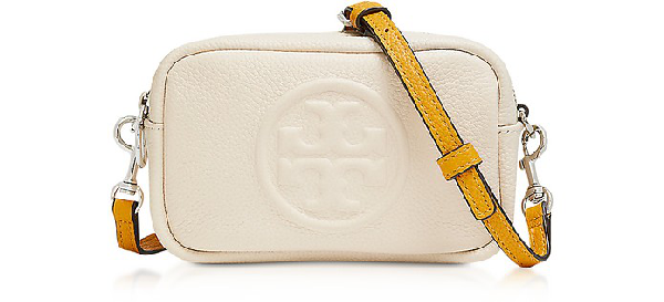 Tory Burch Perry Bombe Mini Leather Crossbody In New Cream
