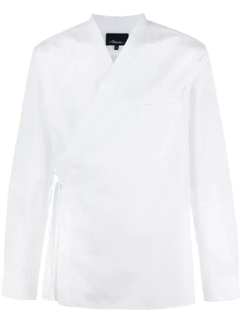 3.1 Phillip Lim Hemd Im Kimono-Look In White