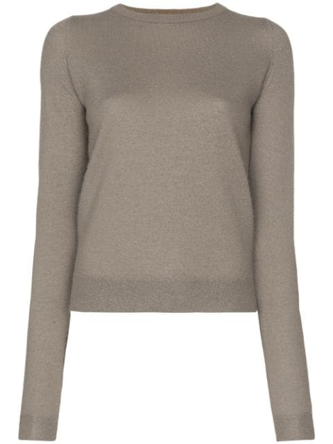 Rick Owens Knitted Cashmere Jumper In Grey