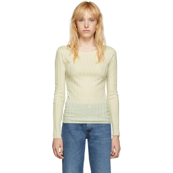TotÊme Toteme Off-white Toury Sweater In 110 Off-whi