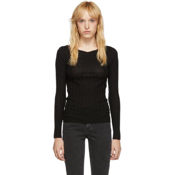 TotÊme Toteme Black Toury Sweater In 200 Black