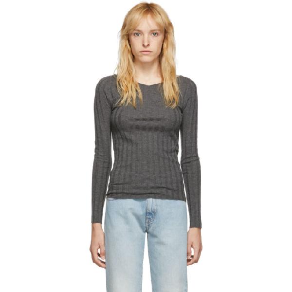 TotÊme Toteme Grey Toury Sweater In 350 Grey Me
