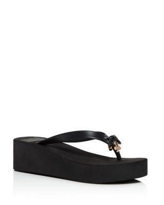 Kate Spade Rhett Platform Flip Flop In Black Rubber