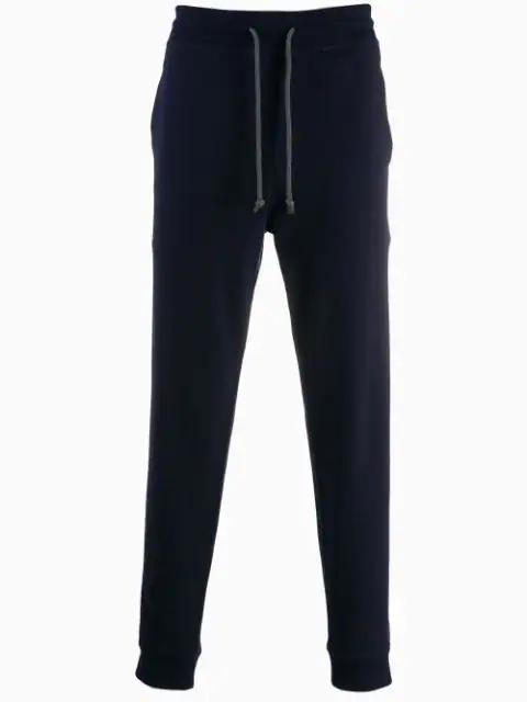 Brunello Cucinelli Drawstring Waist Trousers In Blue
