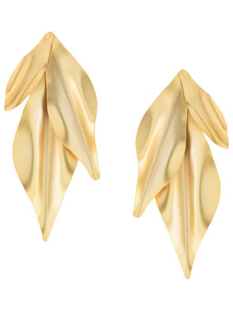 Mercedes Salazar Verzierte Ohrringe In Gold