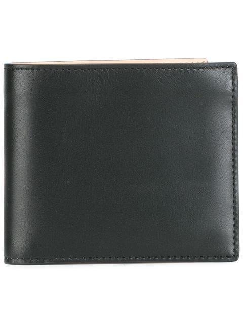 Maison Margiela Contrast Stitch Leather Bifold Wallet In Black