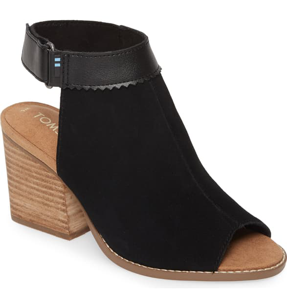 Toms Grenada Sandal In Black Suede