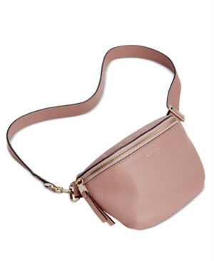 Kate Spade Medium Polly Leather Belt Bag In Flapper Pink