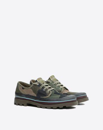 Valentino Garavani Men's Camouflage Low-top Sneakers In Khaki In Green