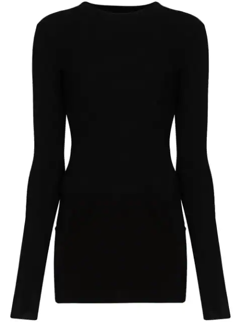 Rick Owens Ribbed Knit Top In Black