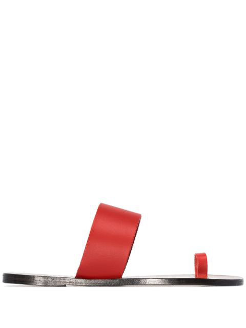 Atp Atelier Tomato Red Leather Sandals