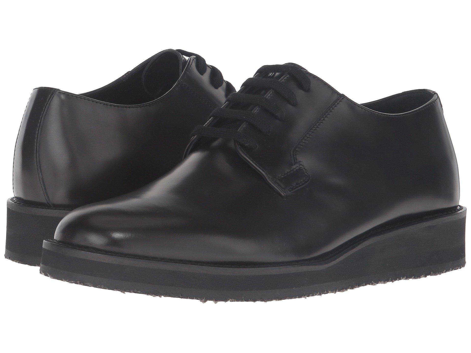 Marni Brushed Leather Lace-up Oxford In Brown