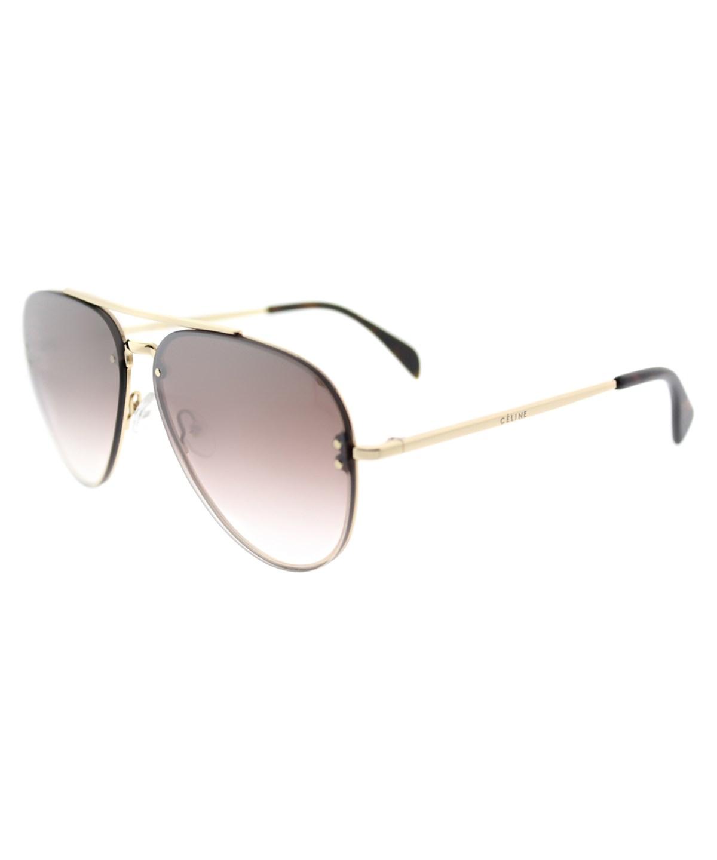 Celine Small Mirror Aviator Metal Sunglasses' In Gold Silver