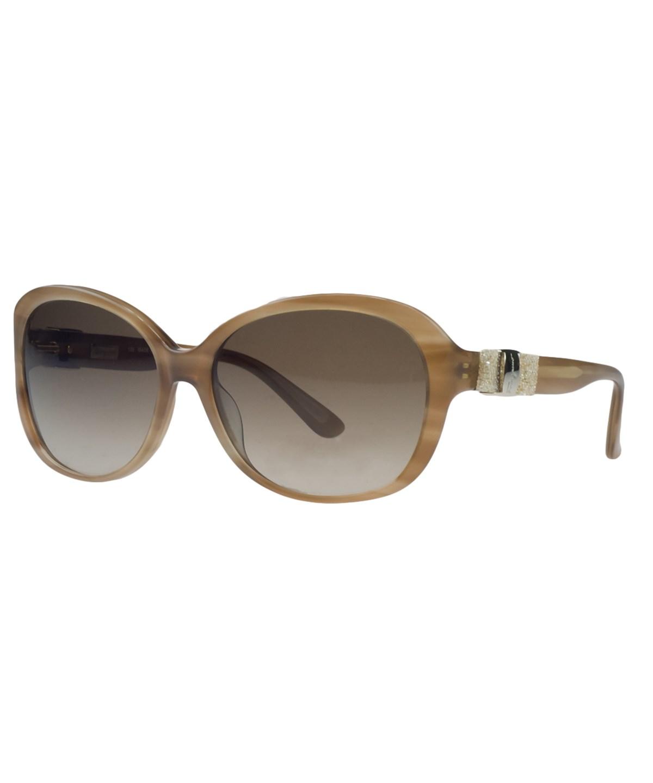 Salvatore Ferragamo Sf658/s 260 Honey Oval Sunglasses In Brown