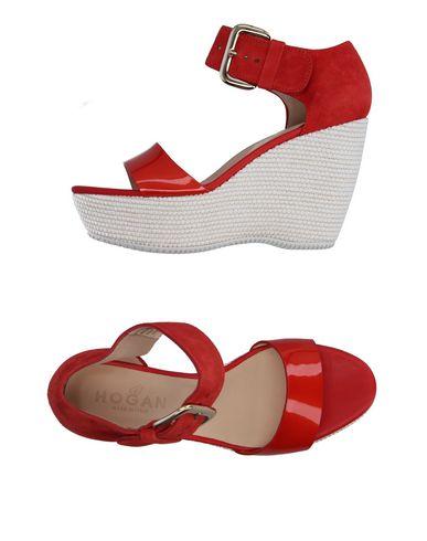 Hogan Sandals In Red