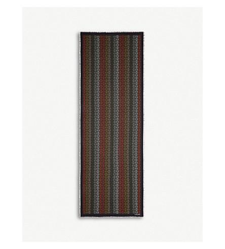 Loewe Anagram Wool In Black/Multicolor