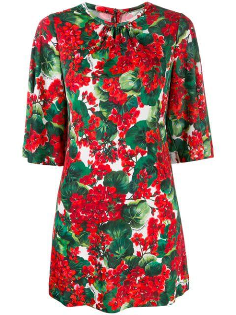 "Dolce & Gabbana Oberteil Mit ""portofino""-print In Red"