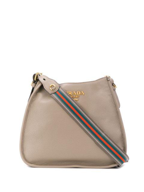 Prada Hobo Shoulder Bag In Neutrals