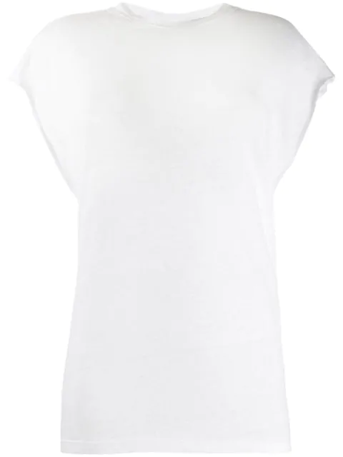 Iro Oversized Vest Top In White