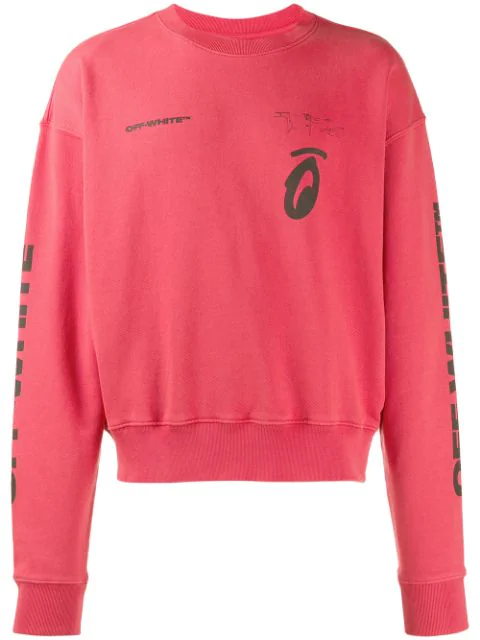 Off-White Splitted Arrows Sweatshirt In Red In 2010 Red Black