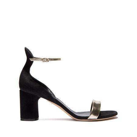 Casadei Evening In Black And Pale Gold