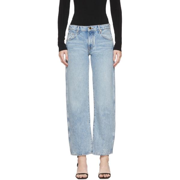 Khaite Kerrie Mid-rise Straight-leg Jeans In Blue