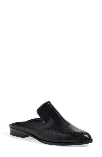 Robert Clergerie 'alice' Mule In Black Leather
