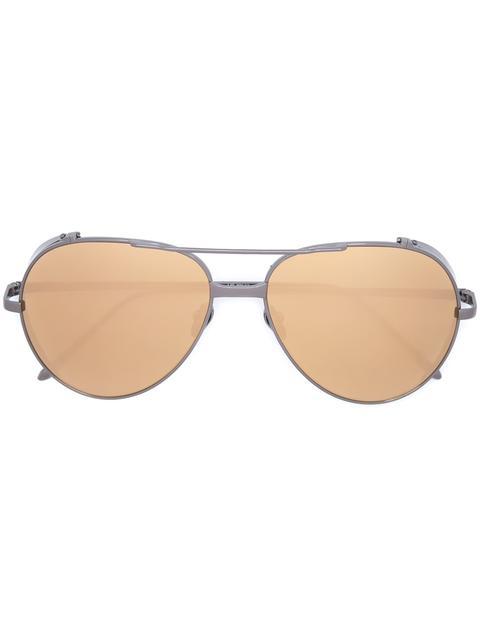 Linda Farrow Aviator Sunglasses In Black