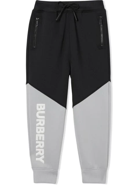 Burberry Kids' Sportive Logo Sweatpants In Black