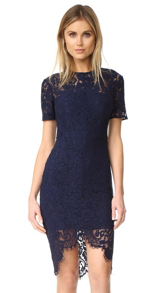 Lover Oasis Fitted Dress In Navy