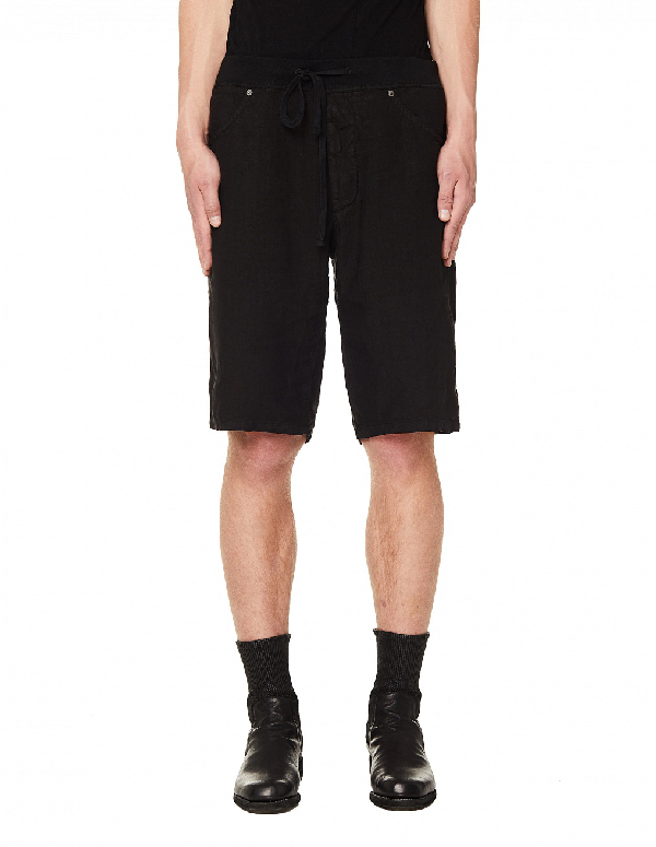120% Lino Black Linen Shorts