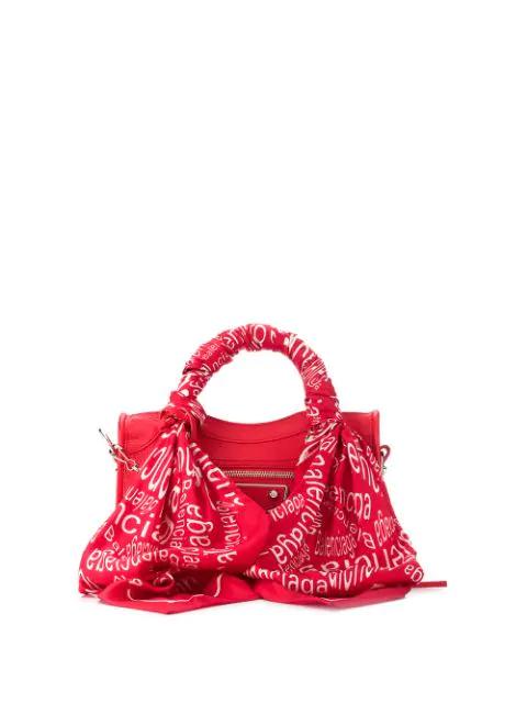 Balenciaga Mini City Scarf Bag In 6562 - Red