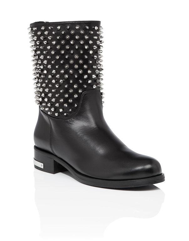 "Philipp Plein Boots Low Flat ""belley"""