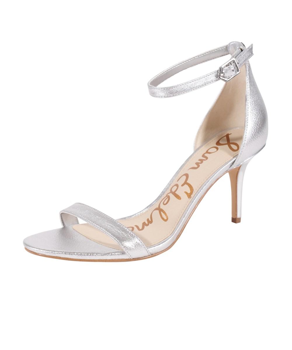 Sam Edelman Patti Strappy Sandal In Soft Silver Leather