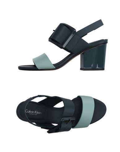 Calvin Klein Collection Sandals In Deep Jade