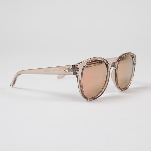 Le Specs Paramount Tan Mirrored Sunglasses In Brown